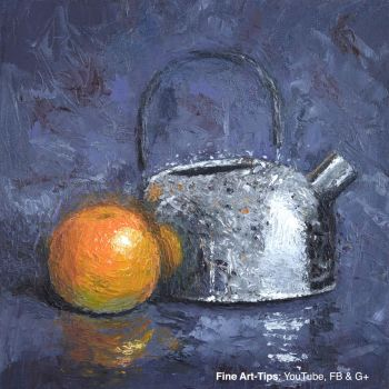 How to Paint a Still Life With Palette Knife - Oil by ArtistLeonardo