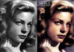 Lauren Bacall Before And After by JoseFerreira14