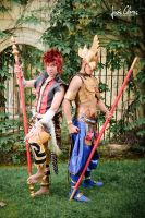 Xiba and Kilik (Soul Calibur V) by TornadoSugus