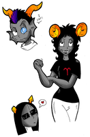 Homestuck Doodles by KaylaTheDragoness