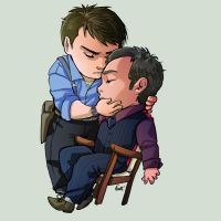 Comish - Ianto and Jack by oneoftwo