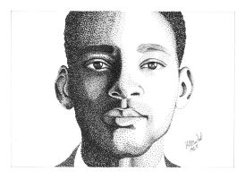 Will Smith Pointillism by gabedesignz