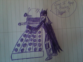 Steph and a Dalek by Literateknits