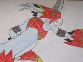 Flamedramon is really cool by NewMoon-Dragoness
