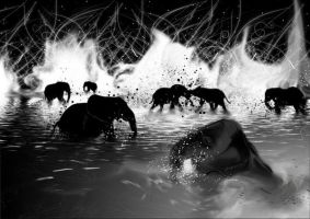 Elephants of Mars by eosvector