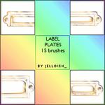 Brushes - Label Plates by greyskymorning