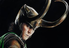 Loki Laufeyson -colored pencils by CGskillz