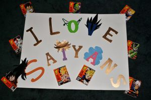 I Love Saiyans by bluerose0492