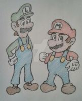 Mario And Luigi by anudrawings