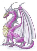 Bright Grey Dragon by Scellanis