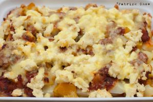 Potato-pumpkin gratin by patchow