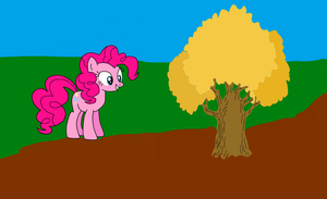 Pinkie Pie and an Oak Tree by jazzy-rose-hxc