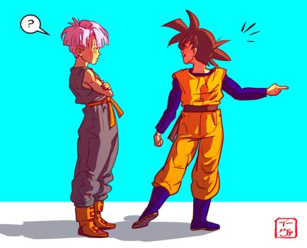 Goten And Trunks by invisibleninja12