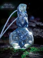 frozen flowers elvish bottle by Gwillieth