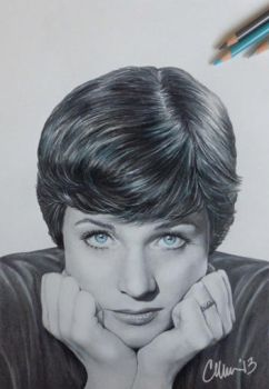 Julie Andrews Drawing by Live4ArtInLA