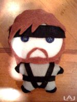 Chibi Plushies: Solid Snake by Red-Flare