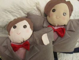 Eleventh Doctor Pillow Plushies by orinocou