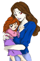 Bella and Renesmee by SailorRainbowKaggy