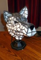 3-Dimensional Wolf Stained Glass Lamp - Picture 4 by mclanesmemories