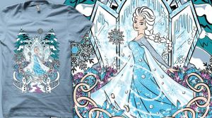 The Snow Queen T-shirt by Anlarel