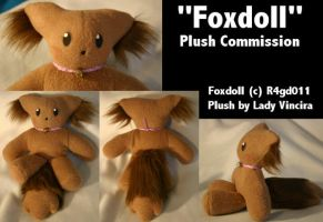"Plush Commission - ""Foxdoll"" by LadyVincira"