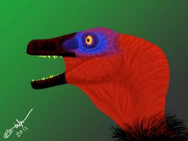 Velociraptor Speed Painting by raven-amos