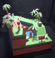 Papercraft Green Hill Zone by Xanokah