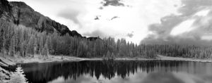 Crater lake infrared by InfiniteForests