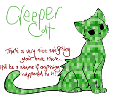 Creeper Cat by inSYNCinSANITY