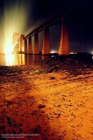 Forth Rail Bridge Beach Front by gdphotography