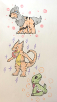 PKMNation: Leveling Trio by Dianamond