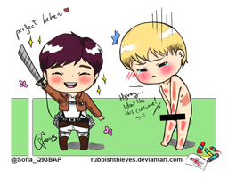 Uppie and Zelo - Attack on titan by rubbishthieves
