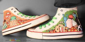Hand-painted Sweet Sneakers by CurePure