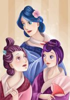 Three Beauties by Nicacolalite