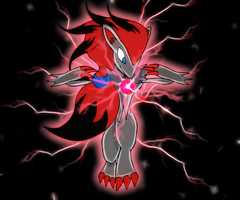 Zoroark ilusionarry energy by Elsdrake
