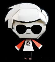 Dave Homestuck Papercraft by Kittyintheraiyn
