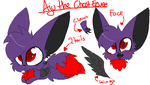 AJU THE GHOST EEVEE OFFICIAL REFERENCE 2014 by TwilightTheEevee