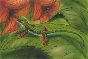 Flower gecko from neocene by AlexSone