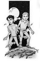 Teen Wolf Isaac and Scott from Boston Comic Con by BillWalko