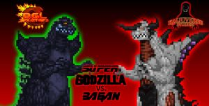 Super Godzilla vs. Bagan by KingAsylus91