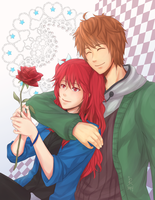 CR-Com: A single red rose for you by Lurxneat