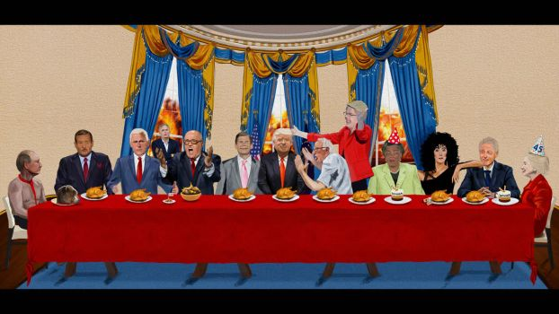 Speed Painting 56: Trump and The Last Supper by juliancelaj