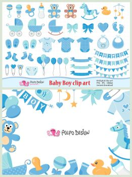 Baby Boy clipart by PolpoDesign