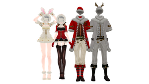 [MMD X New Year gifts] Costumes DL by UnluckyCandyFox
