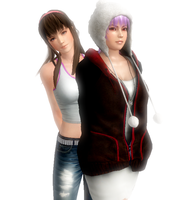 Hitomi and Ayane by CeCeFever