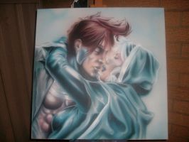 Gambit and Rouge by Mathius88
