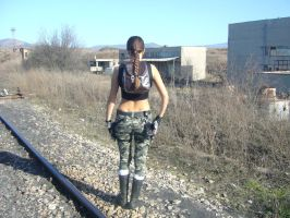 Tomb Raider Cosplay Anniversary Camouflage AOD by DayanaCroft