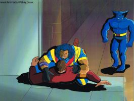 X-men Production cel featuring Beast by AnimationValley