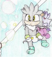 Silver and Blaze-Bubble blowing by Carurisa