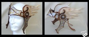 Valkyrie Leather Headpiece by b3designsllc